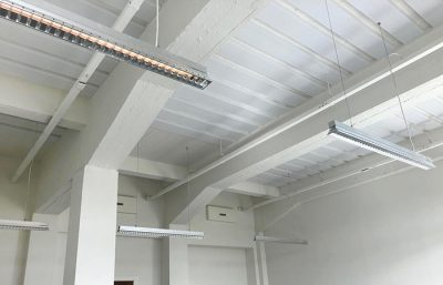 Project Spaces Rode Olifant witte plafondpanelen 3