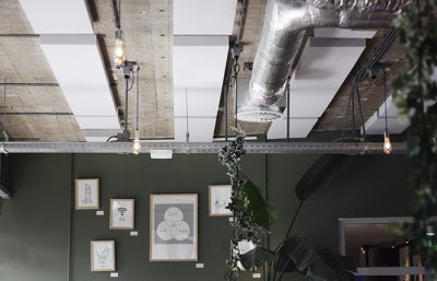 Plafondpanelen grijs TQ Amsterdam