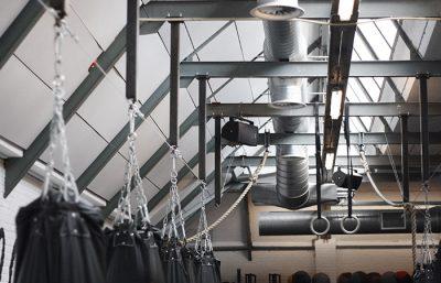 Portfolio Vondelgym wandpanelen plafondpanelen industrieel4