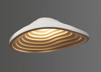 Oplossingen akoestische design lamp verlichting rice field single 120
