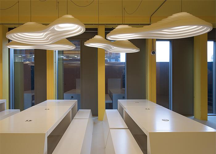 Oplossingen akoestische design lamp verlichting rice field double 180