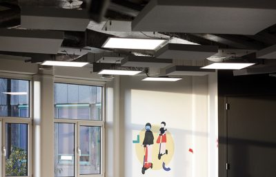 Plafondpanelen hangende bevestiging DOTT